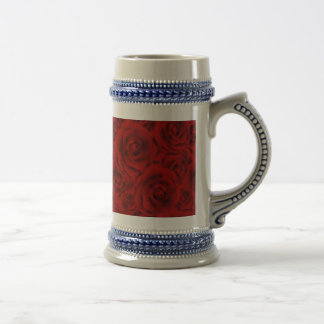 Summer colorful pattern rose beer stein