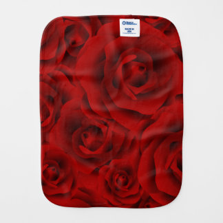 Summer colorful pattern rose burp cloth