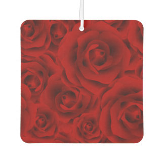Summer colorful pattern rose car air freshener