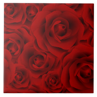 Summer colorful pattern rose ceramic tiles