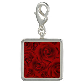 Summer colorful pattern rose charms