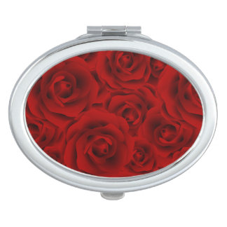 Summer colorful pattern rose compact mirrors