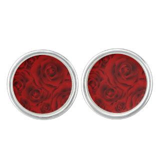 Summer colorful pattern rose cufflinks