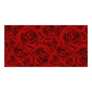 Summer colorful pattern rose custom photo card