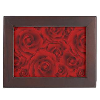 Summer colorful pattern rose keepsake box