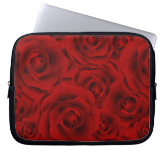Summer colorful pattern rose laptop sleeve