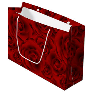 Summer colorful pattern rose large gift bag