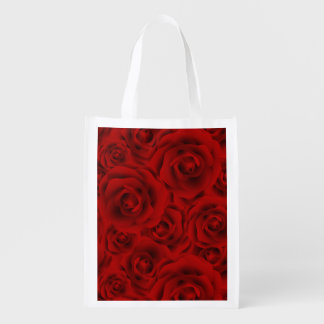 Summer colorful pattern rose market totes