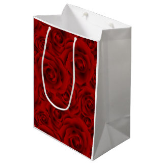 Summer colorful pattern rose medium gift bag