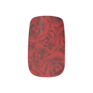 Summer colorful pattern rose minx nail art