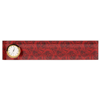 Summer colorful pattern rose nameplate