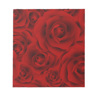 Summer colorful pattern rose notepad