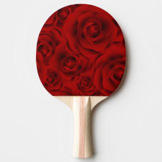 Summer colorful pattern rose ping pong paddle