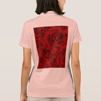 Summer colorful pattern rose polo shirt