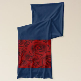 Summer colorful pattern rose scarf
