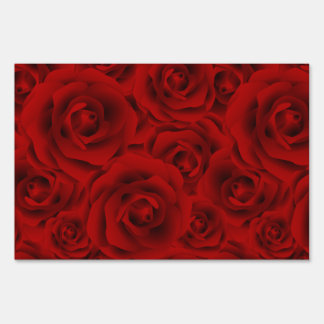 Summer colorful pattern rose sign