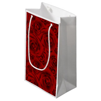 Summer colorful pattern rose small gift bag