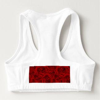 Summer colorful pattern rose sports bra