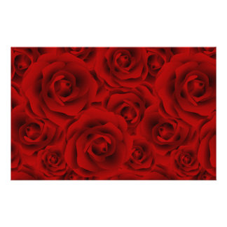 Summer colorful pattern rose stationery