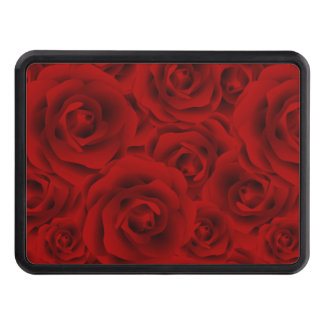 Summer colorful pattern rose trailer hitch cover