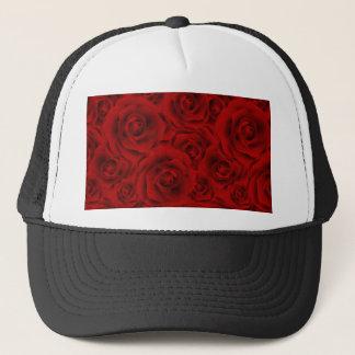 Summer colorful pattern rose trucker hat