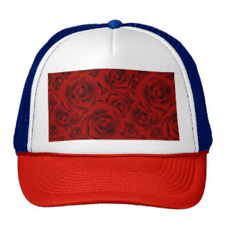 Summer colorful pattern rose trucker hat