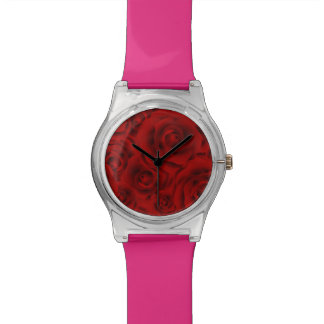 Summer colorful pattern rose wrist watches