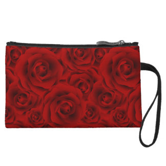 Summer colorful pattern rose wristlet purse