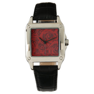 Summer colorful pattern rose wristwatches