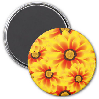 Summer colorful pattern yellow tickseed 3 inch round magnet
