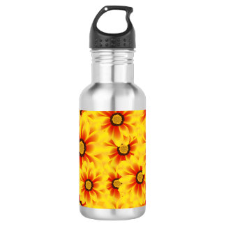 Summer colorful pattern yellow tickseed 532 ml water bottle