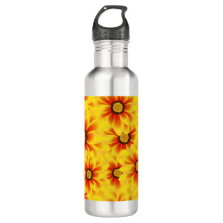 Summer colorful pattern yellow tickseed 710 ml water bottle