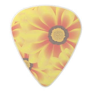 Summer colorful pattern yellow tickseed acetal guitar pick