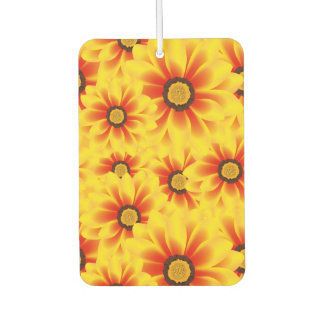 Summer colorful pattern yellow tickseed air freshener