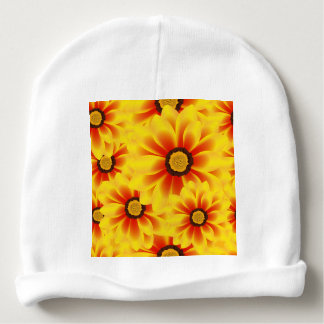 Summer colorful pattern yellow tickseed baby beanie