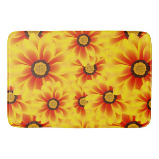 Summer colorful pattern yellow tickseed bath mat