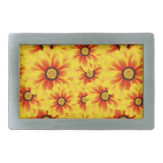Summer colorful pattern yellow tickseed belt buckle