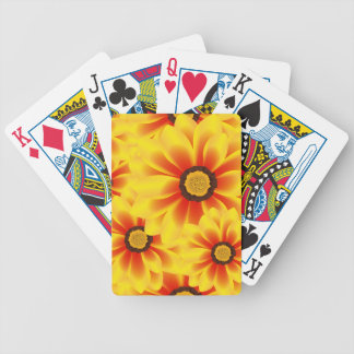 Summer colorful pattern yellow tickseed bicycle playing cards