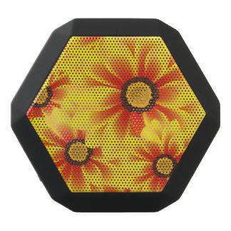 Summer colorful pattern yellow tickseed black bluetooth speaker