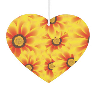 Summer colorful pattern yellow tickseed car air freshener
