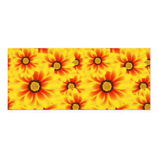 Summer colorful pattern yellow tickseed card
