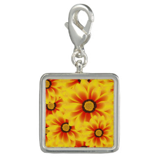Summer colorful pattern yellow tickseed charm