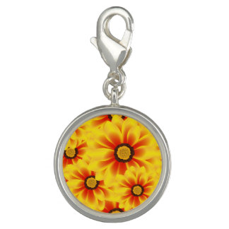 Summer colorful pattern yellow tickseed charms