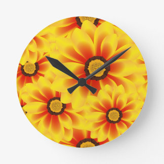 Summer colorful pattern yellow tickseed clocks