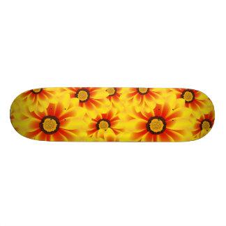Summer colorful pattern yellow tickseed custom skate board