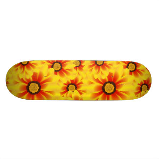 Summer colorful pattern yellow tickseed custom skateboard