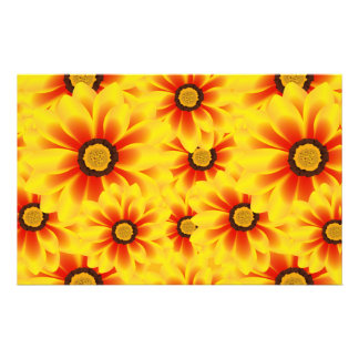 Summer colorful pattern yellow tickseed customized stationery