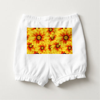 Summer colorful pattern yellow tickseed diaper cover