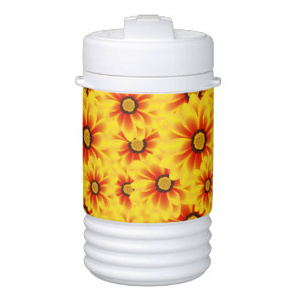 Summer colorful pattern yellow tickseed drinks cooler