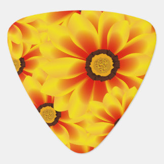 Summer colorful pattern yellow tickseed guitar pick